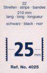 Hawidky černé, pásky 210 x 25 mm, 22 ks - schaufix - vkládací