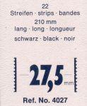 Hawidky černé, pásky 210 x 27,5 mm, 22 ks - schaufix - vkládací