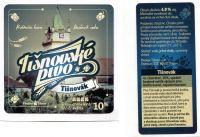 Tišnovské pivo - 10% Tišnovák (samolepky) A+B