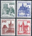 (1978) MiNr. 587 - 590 ** - Berlín - západní - Zámky (II)
