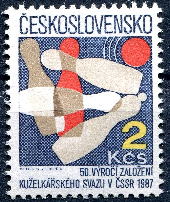 (1987) č. 2779 ** - ČSSR - 50. výročí kuželkářského svazu