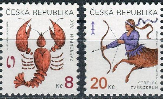 (1999) č. 227 - 228 ** - ČR - Znamení zvěrokruhu Rak a Střelec