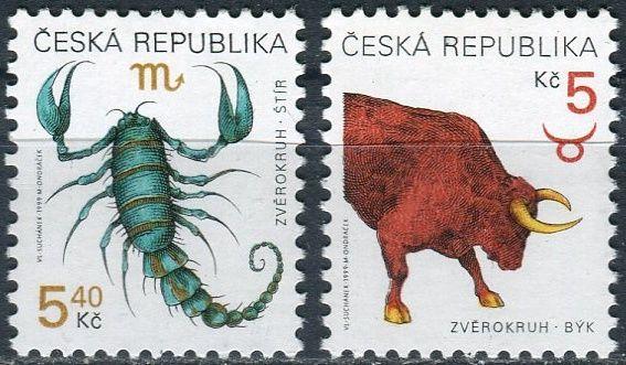 (1999) č. 241 - 242 ** - ČR - Znamení zvěroktuhu Štír a Býk