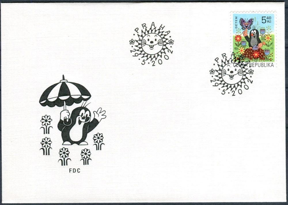Česká pošta (2002) FDC 323 - Dětem - Krteček