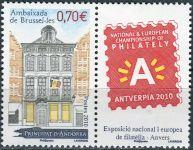 (2010) MiNr. 713 ** - Andora (Fr.) - Andorrského velvyslanectví v Bruselu; Mezinárodní výstava pošto