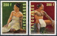 (2010) NiNr. 1102 - 1103 ** - Fr. Polynesie - tetování