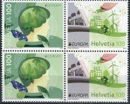 (2016) MiNr. 2452 - 2453 ** - 4-bl - Švýcarsko - Europa: Šetrnost vůči životnímu ...