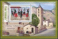 (2016) MiNr. 806 ** - Andora (Fr.) - BLOCK 13 - Lidové tance