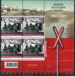 (2017) MiNr. 2492 ** - 4-bl - Švýcarsko - 125 let železnice Brienz-Rothorn