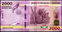 Burundi - (P 52)  2 000 Francs (2015) - UNC