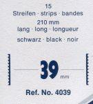 Hawidky černé, pásky 210 x 39 mm, 15 ks - schaufix - vkládací