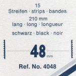 Hawidky černé, pásky 210 x 48 mm, 15 ks - schaufix - vkládací
