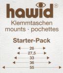 Hawidky černé, pásky starter pack, 13 ks - klemmtaschen