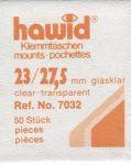 Hawidky průhledné, přířez 23 x 27,5 mm, 50 ks - klemmtaschen