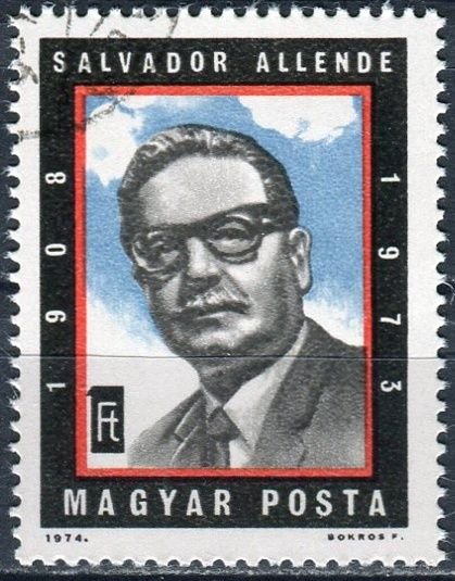 (1974) MiNr. 2939 O - Maďarsko - První výročí smrti Salvadora Allendeho - ražené