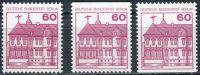 (1979) MiNr. 611 A; C; D; ** - Berlín - západní - Poštovní známka: Zámky (III)