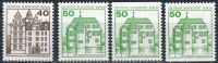 (1980) MiNr. 614 - 615 A; C; D;  ** - Berlín - západní - Zámky (IV)