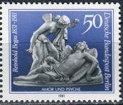 (1981) MiNr. 647 ** - Berlín - západní - 150. narozeniny Reinhold Begas
