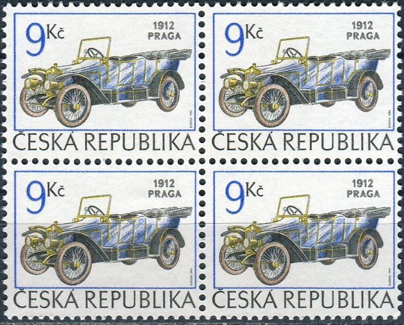 (1994) č. 55 ** - Česká republika - 4-bl - historická auta