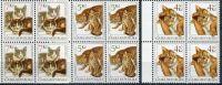 (1999) č. 205 - 207 ** - Česká republika - 4-bl - Chovatelství Kočky