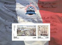 (2016) MiNr. 1257 - 1258 ** - Saint Pierre a Miquelon - BLOCK 27 - 200. výročí návratu na ostrovy
