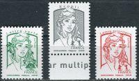 (2016) MiNr. 6334 - 6336 ** - Francie - Marianne (Ciappa und Kawena)