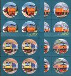 (2017) MiNr.  ** - Thajsko - 4-bl - 120 let thajské železnice