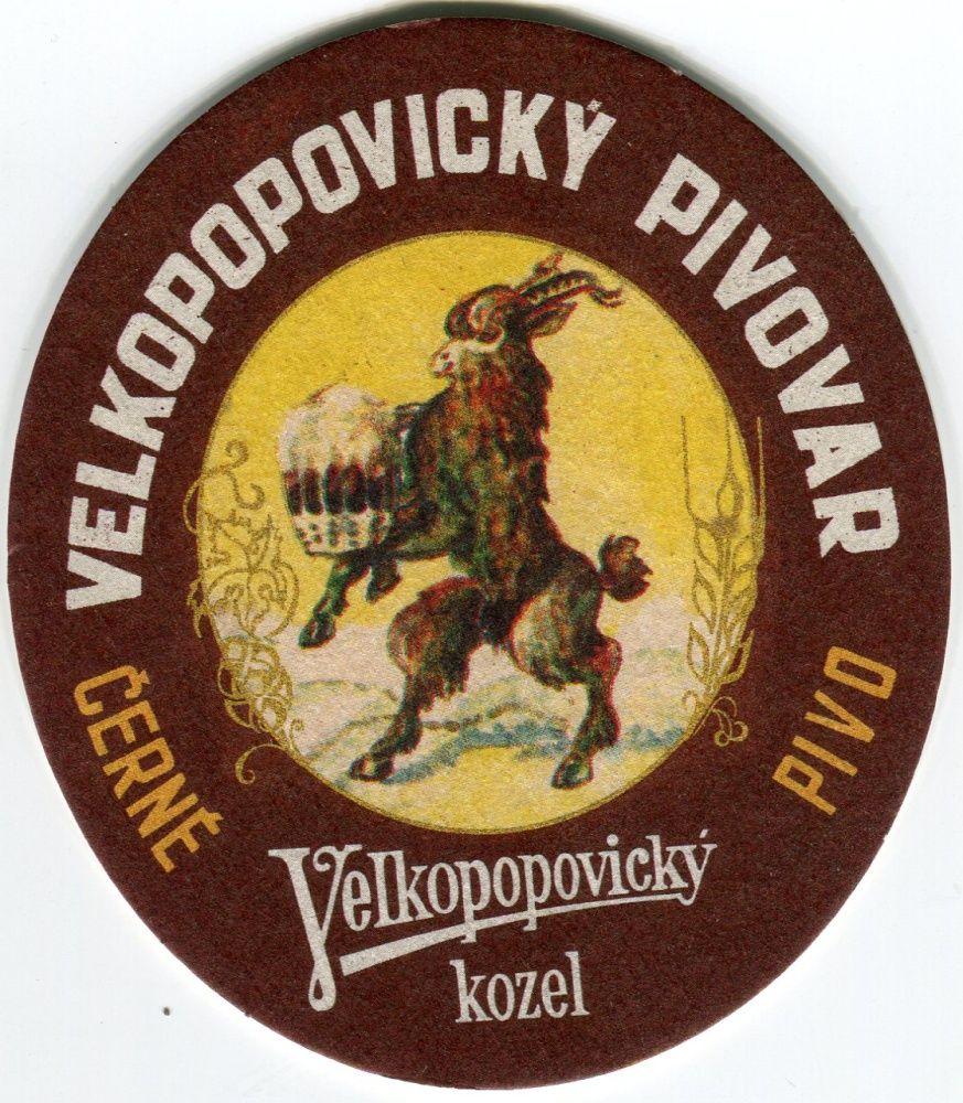 Velké Popovice - Velkopopovický kozel - Černé pivo - POUZE PRO STARŠÍ 18 LET