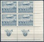 (1946) č. L 16 ** - Československo - 2 x KD rohová - Letecké známky - Let Praha - New York