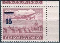 (1949) č. L 31b ** - ČSSR - KH rohová - Letecké zn. - přetisková provizoria