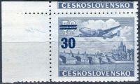 (1949) č. L 32 ** - Československo - KH rohová - Letecké zn. - přetisková provizoria