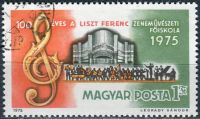 (1975) MiNr. 3080 O - Maďarsko - 100 let hudební akademie Franze Liszta - ražené