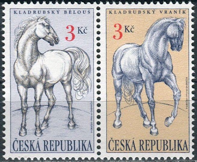 (1996) č. 122-123 ** - 3 Kč - Česká republika - sp - Kladrubští koně - bělouš + vraník