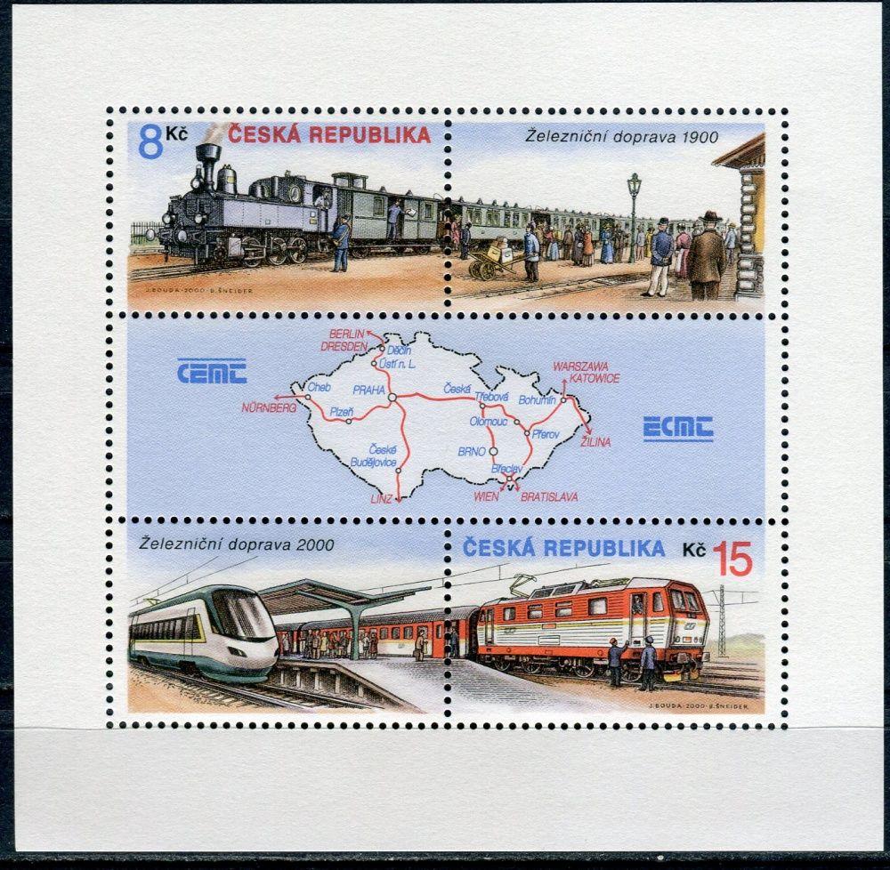(2000) A 254 - 255 ** - ČR - Železnice v letech 1900 a 2000 - vychýlený PO
