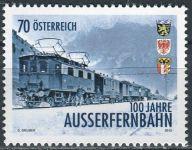(2013) MiNr. 3086 ** - Rakousko - 100 let Außerfernbahn