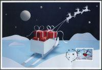 (2015) MiNr. 415 - O - pohlednice a známka - Aland - Vánoce