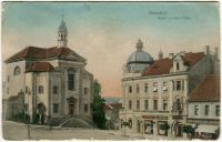Benešov - Kostel a Hotel Pošta