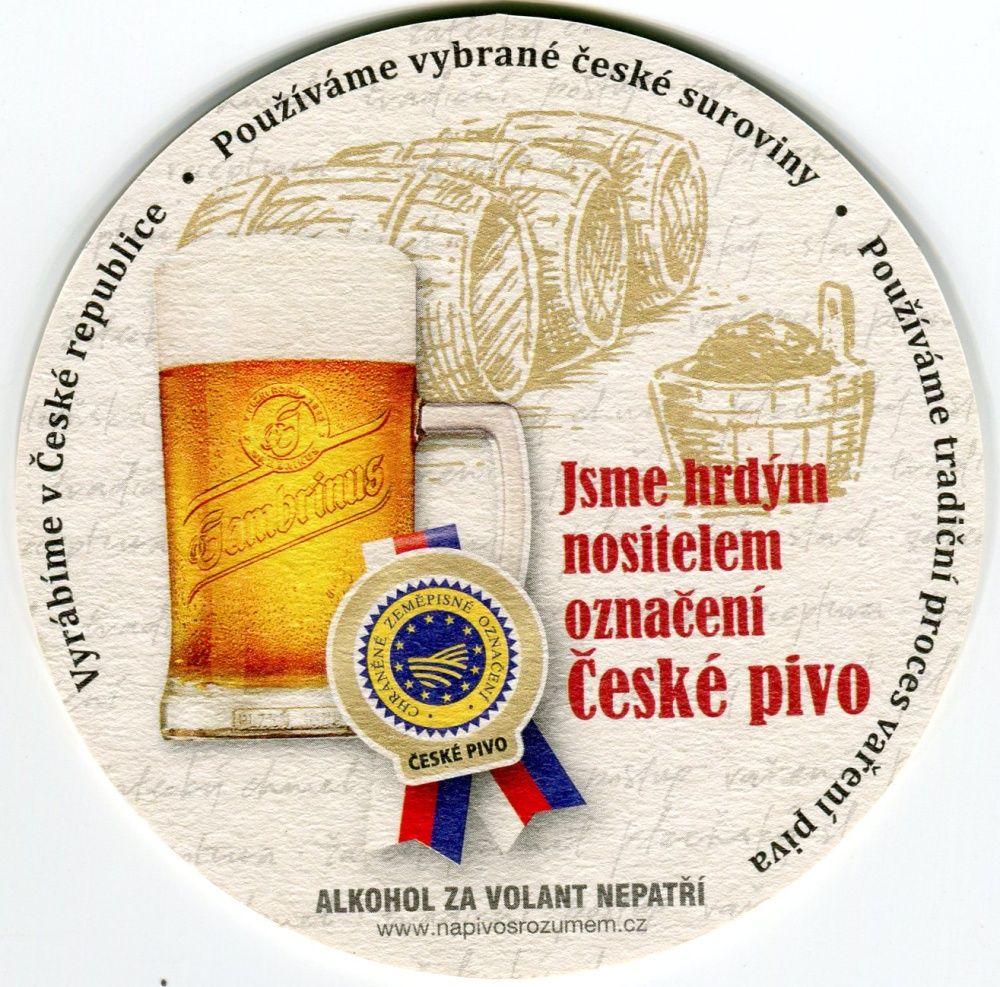 Plzeň - Gambrinus - Jsme hrdým nositelem značení České pivo