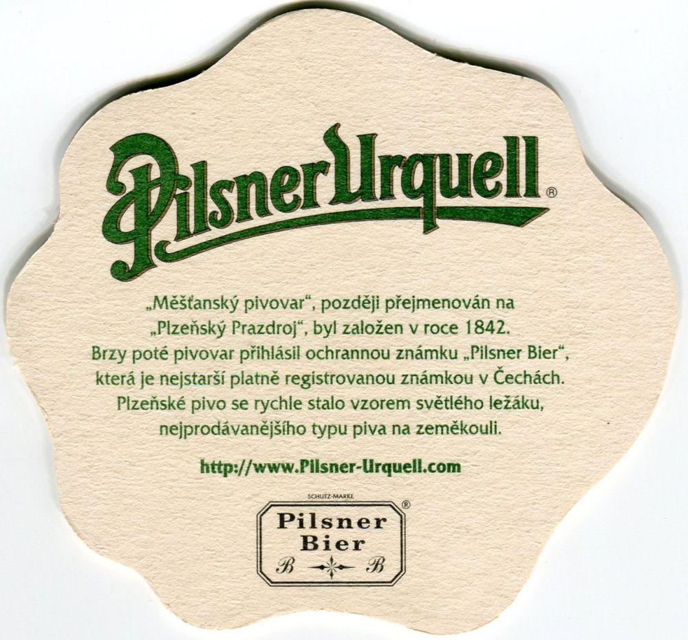 Plzeň - Pilsner Urquell - český text - Měšťanský pivovar...