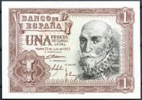 Španělsko - (P 144) 1 Peseta (1953) - UNC