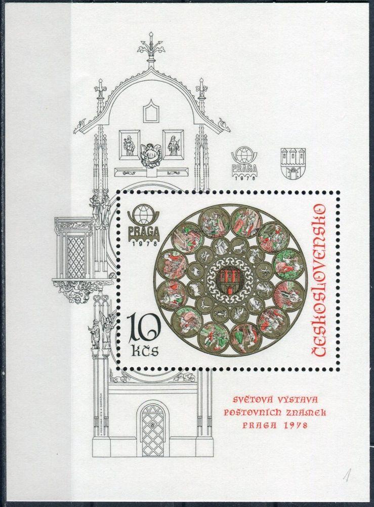 (1978) A 2327 A ** - ČSSR - Staroměstský orloj v Praze - zoubkovaný