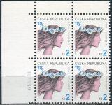(2000) č. 258 ** - Česká republika - 4-bl - Znamení zvěrokruhu - Panna - D.T.
