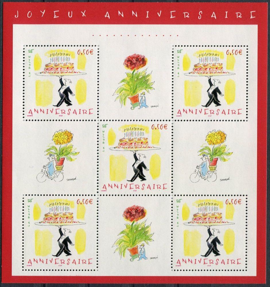 (2004) MiNr. 3833 ** - Francie - KB - gratulační známka