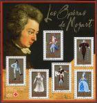 (2006) MiNr. 4082 - 4087 ** - Francie -  BLOCK 55 - 250. narozeniny Wolfganga Amadea Mozarta