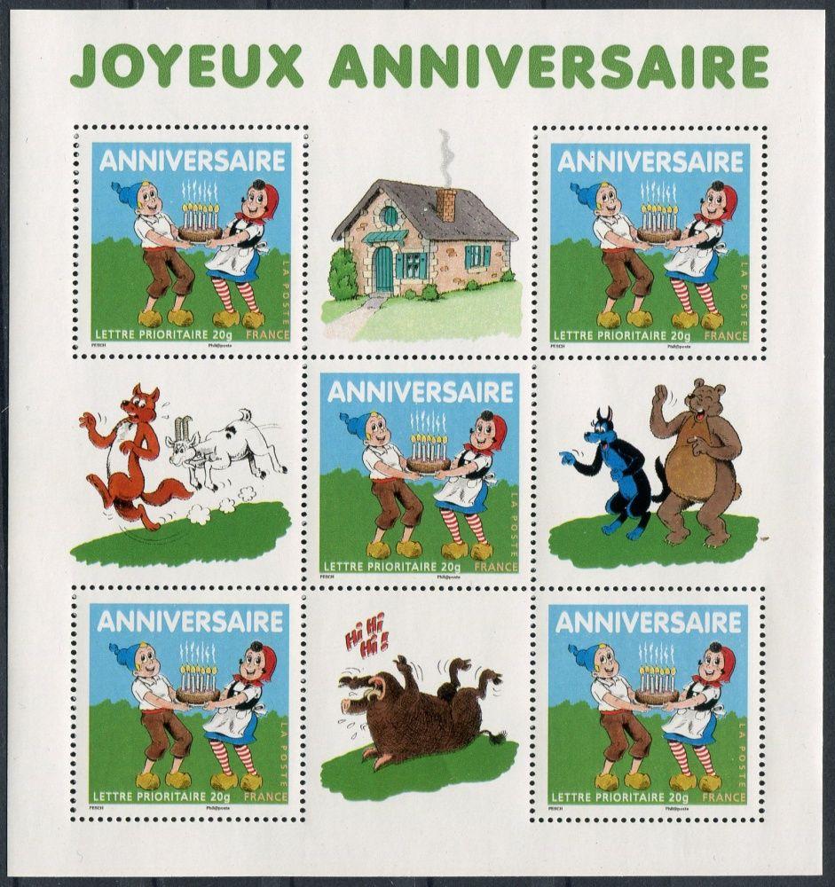 (2007) MiNr. 4295 ** - Francie - PL - blahopřání k narozeninám