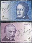 (2008) MiNr. 1647 - 1648 ** - Norsko - 200. narozeniny Frederika Stanga a Henrika Wergelanda