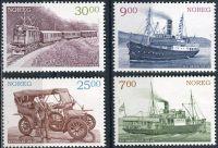 (2008) MiNr. 1655 - 1658 ** - Norsko - Historie dopravních spojení