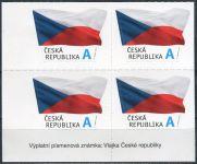 """(2015) č. 867 ** - Česká republika - 4-bl - Vlajka ČR """"A""""- nápis na okraji"""