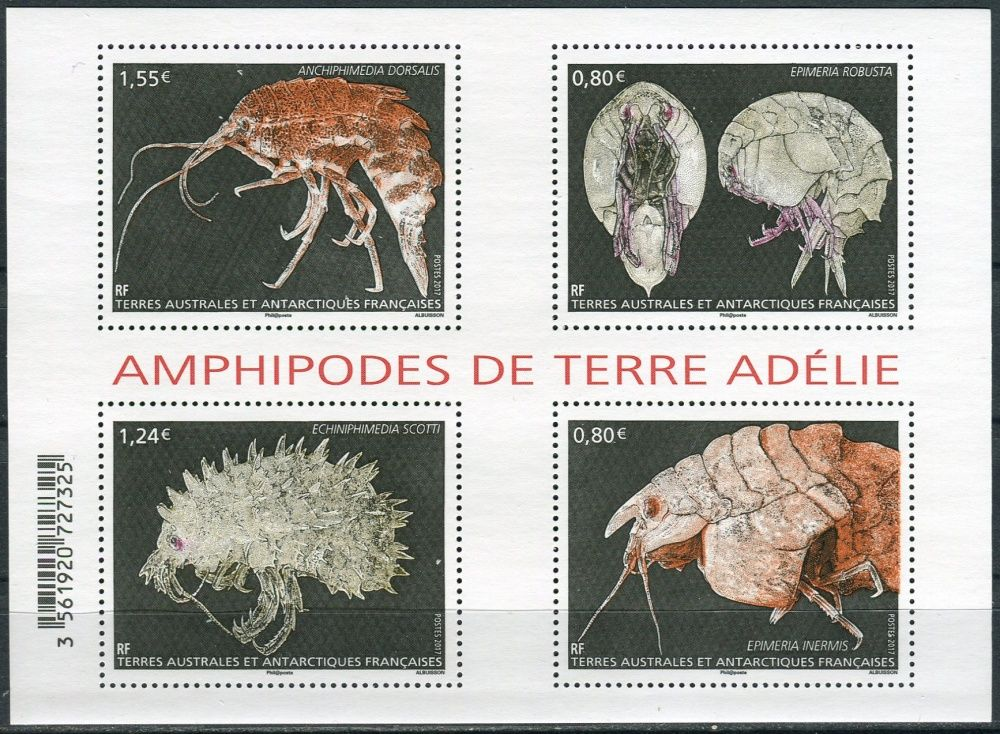 (2017) MiNr. 947 - 950 ** - FA - BLOCK 53 - Amphipodes