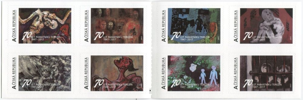 (2017) ZS 62 - VZ 575 - 582 ** - Česká republika - Vlastní známky - 70 let památníku Terezín